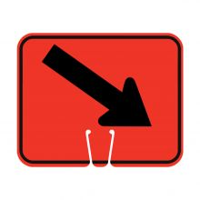 Traffic Cone Sign - DOWN RIGHT ARROW