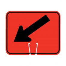 Traffic Cone Sign - DOWN LEFT ARROW