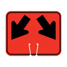 Traffic Cone Sign - DOUBLE LANE ARROW