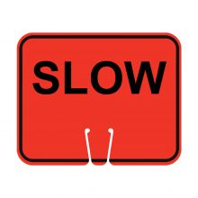Traffic Cone Sign - SLOW