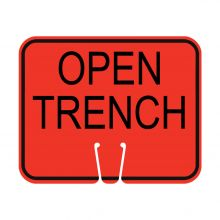 Traffic Cone Sign - OPEN TRENCH