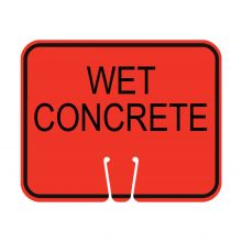 Traffic Cone Sign - WET CONCRETE