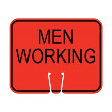 Traffic Cone Sign - MEN WORKING