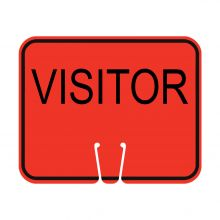 Traffic Cone Sign - VISITOR