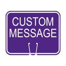 Traffic Cone Sign - CUSTOM MESSAGE (Purple)