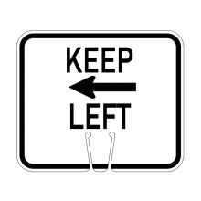 Traffic Cone Sign - KEEP LEFT