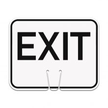 Traffic Cone Sign - EXIT