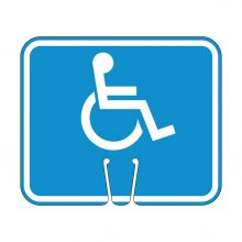 Traffic Cone Sign - HANDICAP Symbol