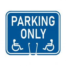 Traffic Cone Sign - HANDICAP PARKING ONLY