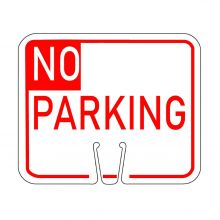 Traffic Cone Sign - NO PARKING (Red)