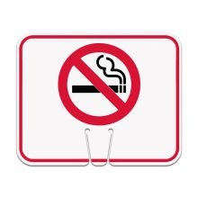 Traffic Cone Sign - NO SMOKING Symbol
