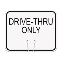 Traffic Cone Sign - Drive-Thru Only