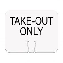Traffic Cone Sign - Take Out Only (No Border)
