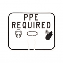Cone Sign - PPE Required