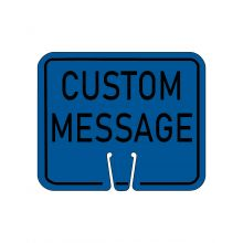 Buy Traffic Cone Sign - CUSTOM MESSAGE (Blue) on sale online