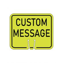 Buy Traffic Cone Sign - CUSTOM MESSAGE (Yellow Gold) on sale online
