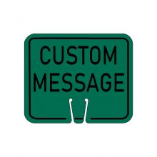 Buy Traffic Cone Sign - CUSTOM MESSAGE (Green) on sale online