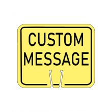 Buy Traffic Cone Sign - CUSTOM MESSAGE (Yellow) on sale online