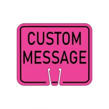 Buy Traffic Cone Sign - CUSTOM MESSAGE (Pink) on sale online