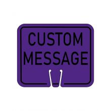 Buy Traffic Cone Sign - CUSTOM MESSAGE (Purple) on sale online