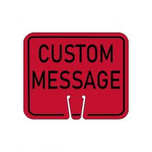 Buy Traffic Cone Sign - CUSTOM MESSAGE (Red) on sale online