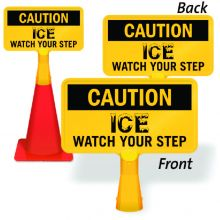 ConeBoss Sign: Caution Ice - Watch Your Step