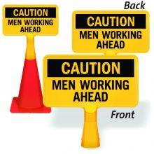 ConeBoss Sign: Caution - Men Working Ahead