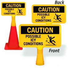 ConeBoss Sign: Caution - Possible Icy Conditions