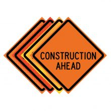 "Buy 36"" x 36"" Roll Up Traffic Sign - Construction Ahead on sale online"