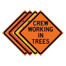 "36"" x 36"" Roll Up Traffic Sign - Crew Working In Trees"
