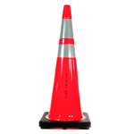 "Buy Florida DOT Approved Traffic Cone - 36"" 12 lb w/2 Collars on sale online"