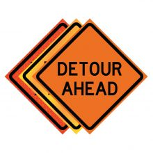 """Buy 36"""" x 36"""" Roll Up Traffic Sign - Detour Ahead on sale online"""