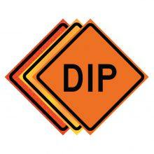 """Buy 36"""" x 36"""" Roll Up Traffic Sign - Dip on sale online"""