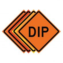 "Buy 36"" x 36"" Roll Up Traffic Sign - Dip on sale online"