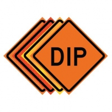 "36"" x 36"" Roll Up Traffic Sign - Dip"