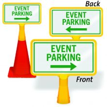 ConeBoss Sign: Event Parking (With Arrow)
