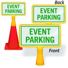 ConeBoss Sign: Event Parking