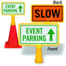 ConeBoss Sign: Event Parking (Front)/Slow (Back)