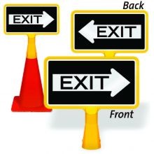 ConeBoss Sign: Exit (With Arrow)
