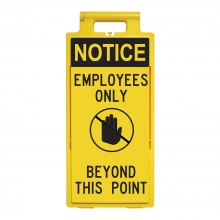 Lamba Floor Stand - Notice Employees Only Beyond This Point