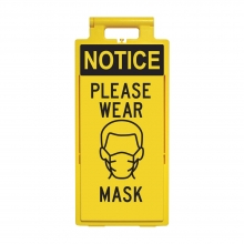 Lamba Floor Stand - Notice Please Wear Mask