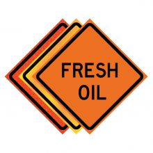 """Buy 36"""" x 36"""" Roll Up Traffic Sign - Fresh Oil on sale online"""