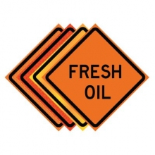 "36"" x 36"" Roll Up Traffic Sign - Fresh Oil"