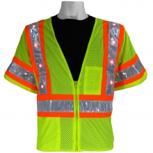 Global Glove GLO-12LED FrogWear Type R Class 3 LED Mesh Safety Vest