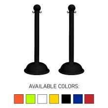 "Buy Traffic Control Heavy Duty Plastic 41"" Stanchion (Pack of 2) on sale online"