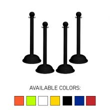 "Buy Traffic Control Heavy Duty Plastic 41"" Stanchion (Pack of 4) on sale online"