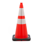 "Buy 28"" Wide Body Traffic Cone w/ 6"" & 4"" 3M Reflective Collar on sale online"