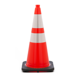 "28""  7 lb Wide Body Traffic Cone w/ 6"" & 4"" 3M� Reflective Collar"