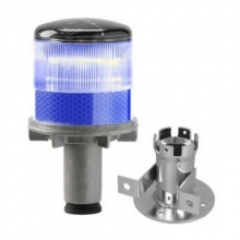 Solar Powered LED Blue Strobe Lights
