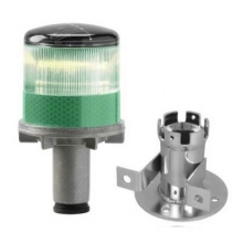 Solar Powered LED Green Strobe Lights